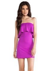 Susana Monaco Sansa Ruffle Top Strapless Dress in Purple