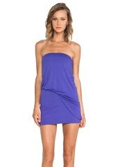 Susana Monaco Strapless Tube Tuck Dress in Purple
