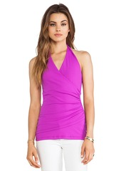 Susana Monaco Wrap Halter Top in Purple