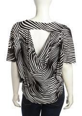 T Bags Dolman-Sleeve Swirl Striped Top