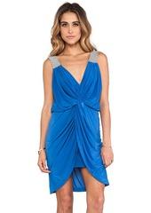T-Bags LosAngeles Asymmetric Hem Knot Front Dress in Blue