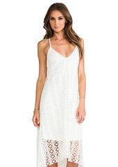 T-Bags LosAngeles Crochet Asymmetrical Dress in White