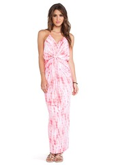 T-Bags LosAngeles Knot Front Maxi Dress in Pink