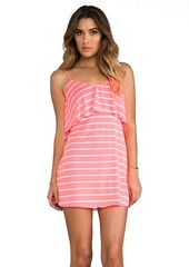 T-Bags LosAngeles Low V Back Dress in Coral