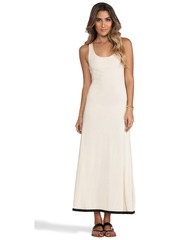 T-Bags LosAngeles Necklace Tiered Maxi Dress in Cream
