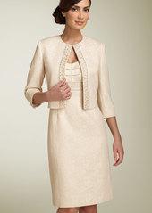 Tahari by Arthur S. Levine Metallic Jacquard Jacket & Dress (Petite)