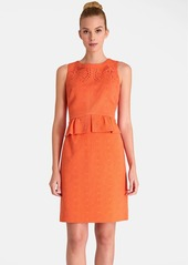 Tahari Jacquard Peplum Sheath Dress (Petite)