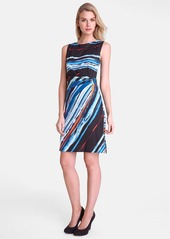Tahari Print Jersey Sheath Dress
