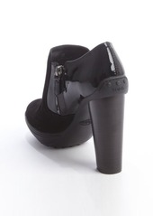 Tod's black suede and patent ankle booties