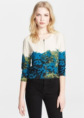 Tracy Reese Flower Print Cardigan