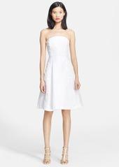 Tracy Reese Lace Appliqué Linen Blend Dress