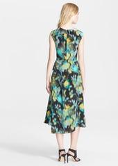 Tracy Reese Print Silk Surplice Dress