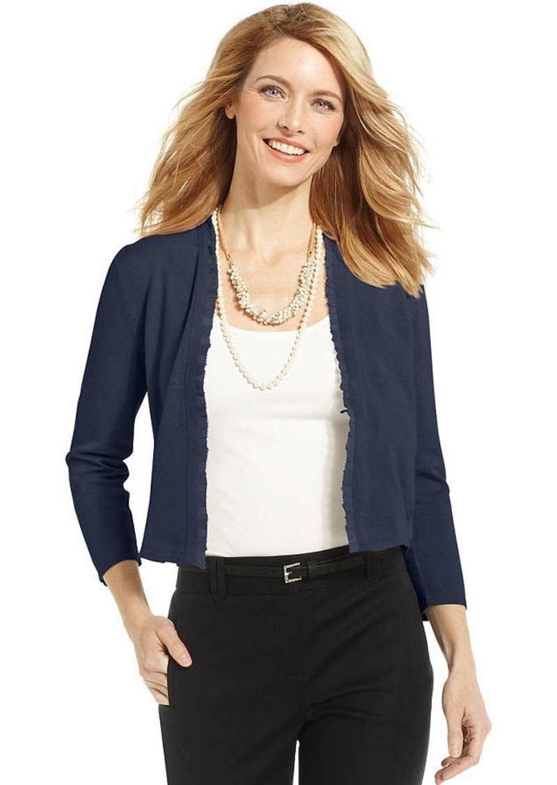Charter Club Petite Short-Sleeve Bolero Sweater