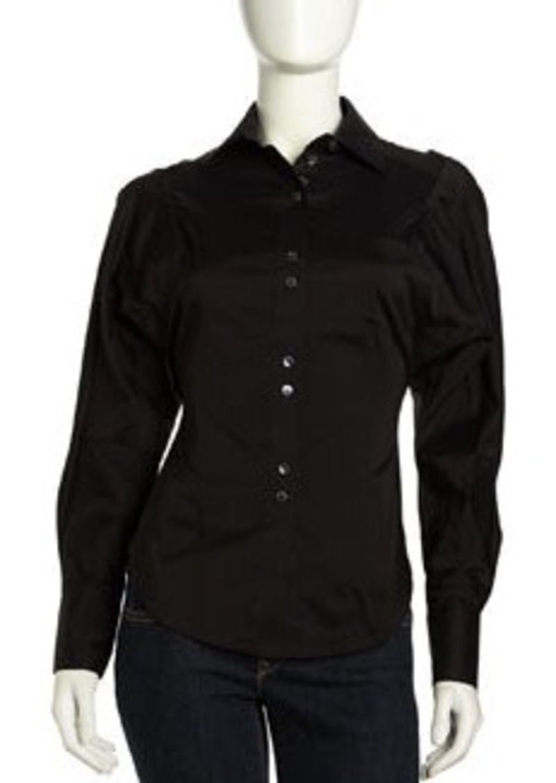 L.A.M.B. Dolman-Sleeve Button-Down Blouse, Black