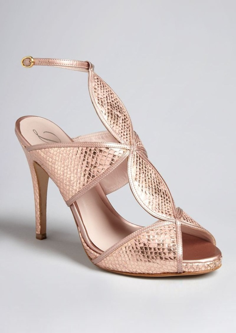 Delman Peep Toe Platform Evening Sandals - Suave High Heel