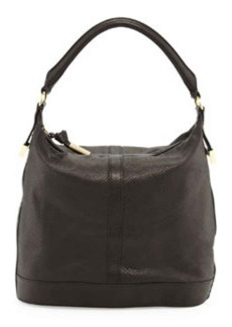 Foley + Corinna Embossed Leather Bucket Bag, Black