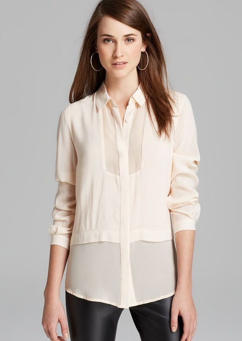 FRENCH CONNECTION Blouse - Smoke Whisper