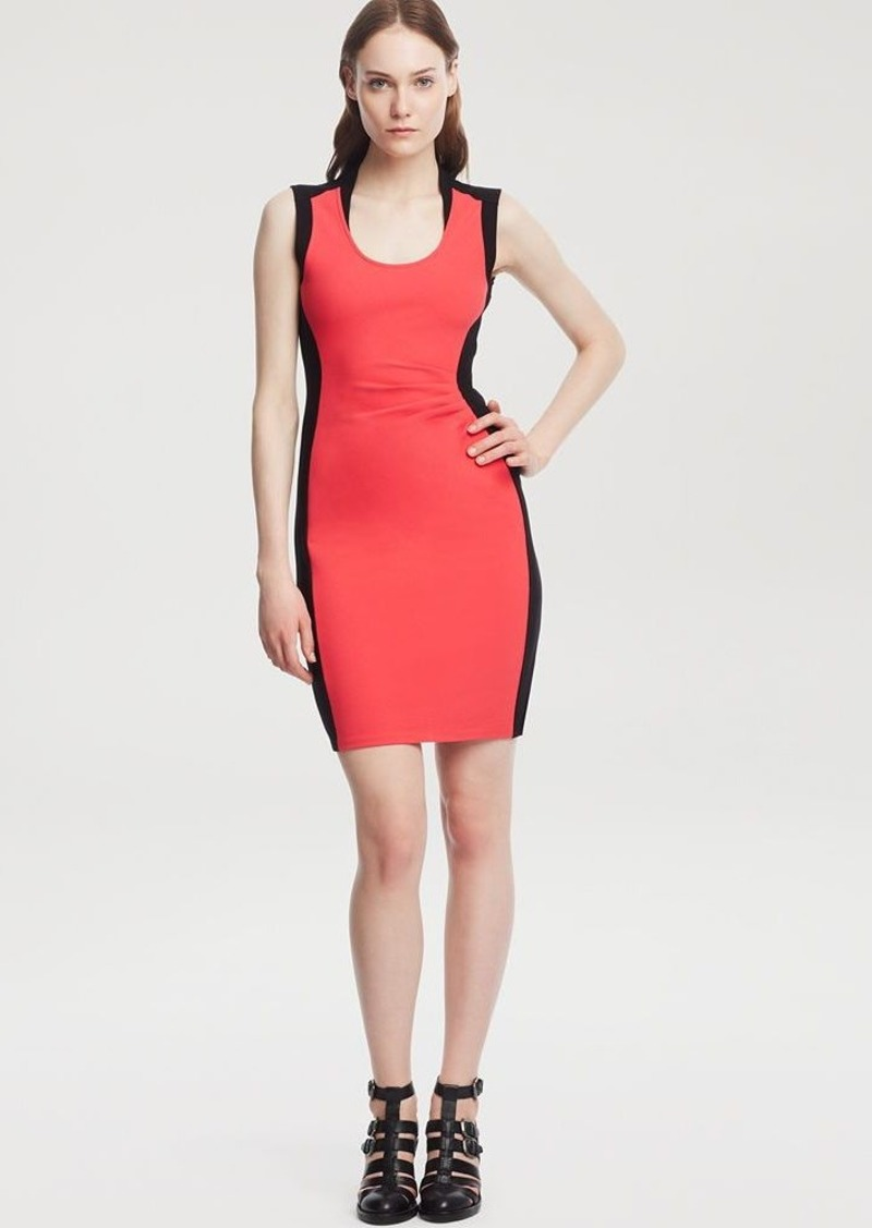 Kenneth Cole New York Helice Color Block Ruched Dress