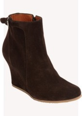 Lanvin Suede Wedge Ankle Boot