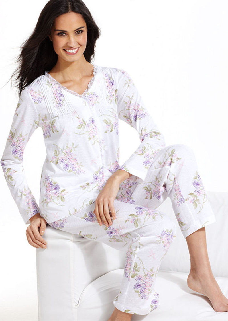 Charter Club Collection Knit Top and Pajama Pants Set