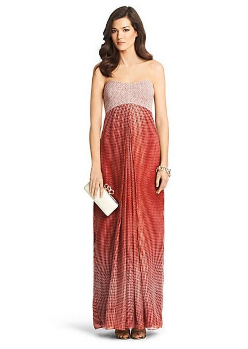 Diane Von Furstenberg Adrianna Printed Chiffon Maxi Dress