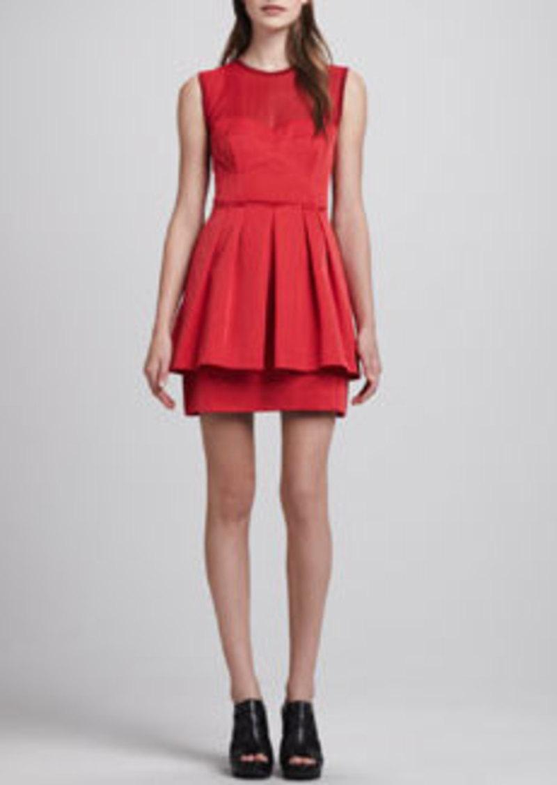 Nanette Lepore Lightshow Sheer-Top Dress   Lightshow Sheer-Top Dress