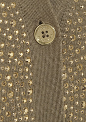 MICHAEL Michael Kors Stud-embellished knitted cardigan