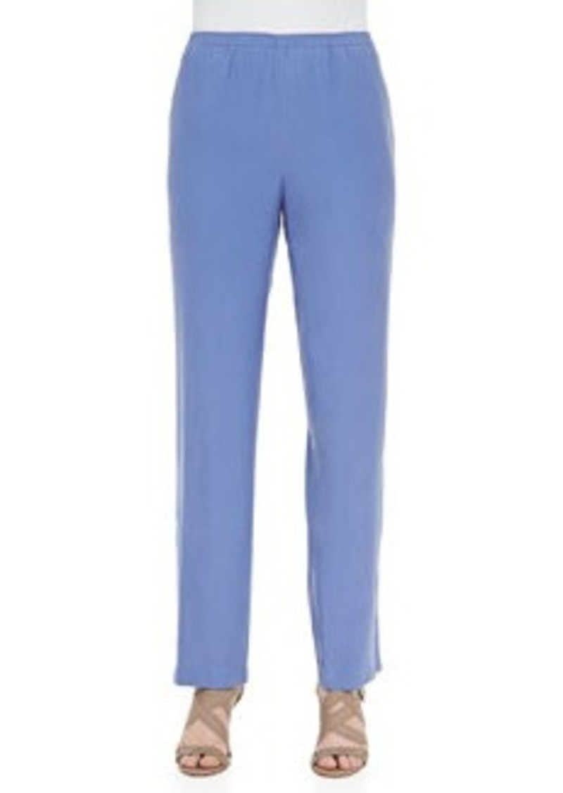Go Silk Solid Pants, Blue