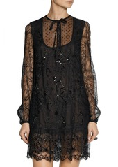 Emilio Pucci Embellished lace mini dress