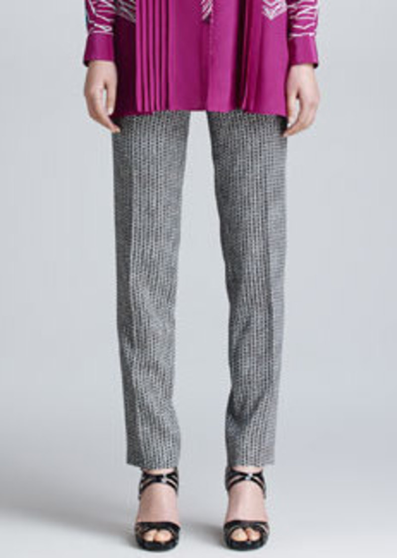 Etro Two-Tone Printed Pants