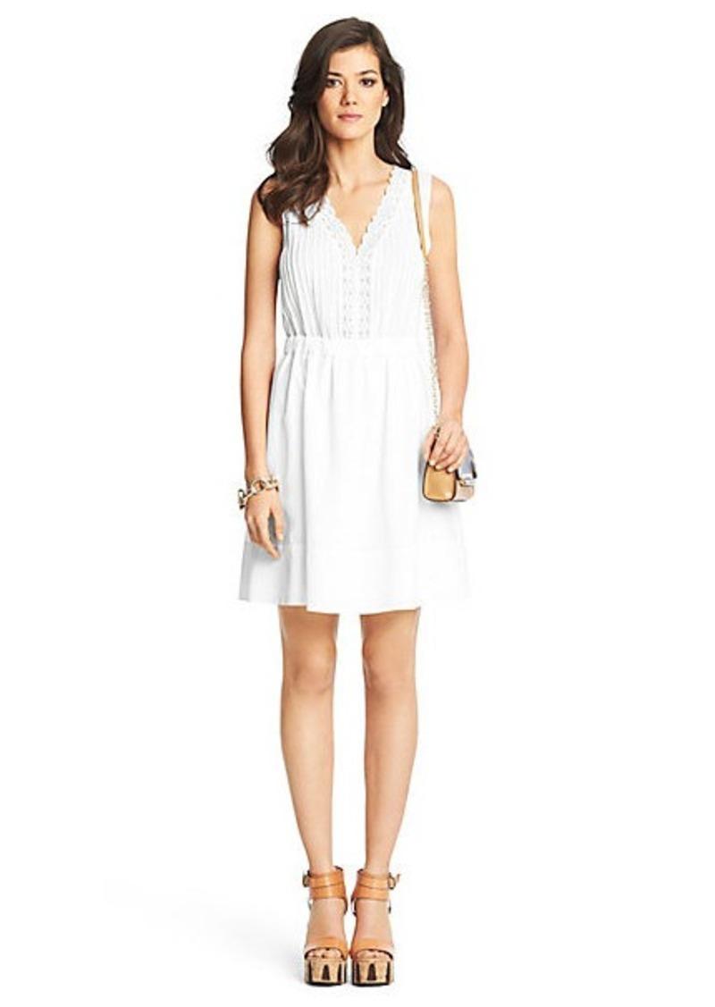 Diane Von Furstenberg Shilo Lace Detail Cotton Dress