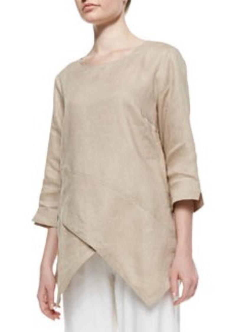 Go Silk Linen Asymmetric Long Tunic