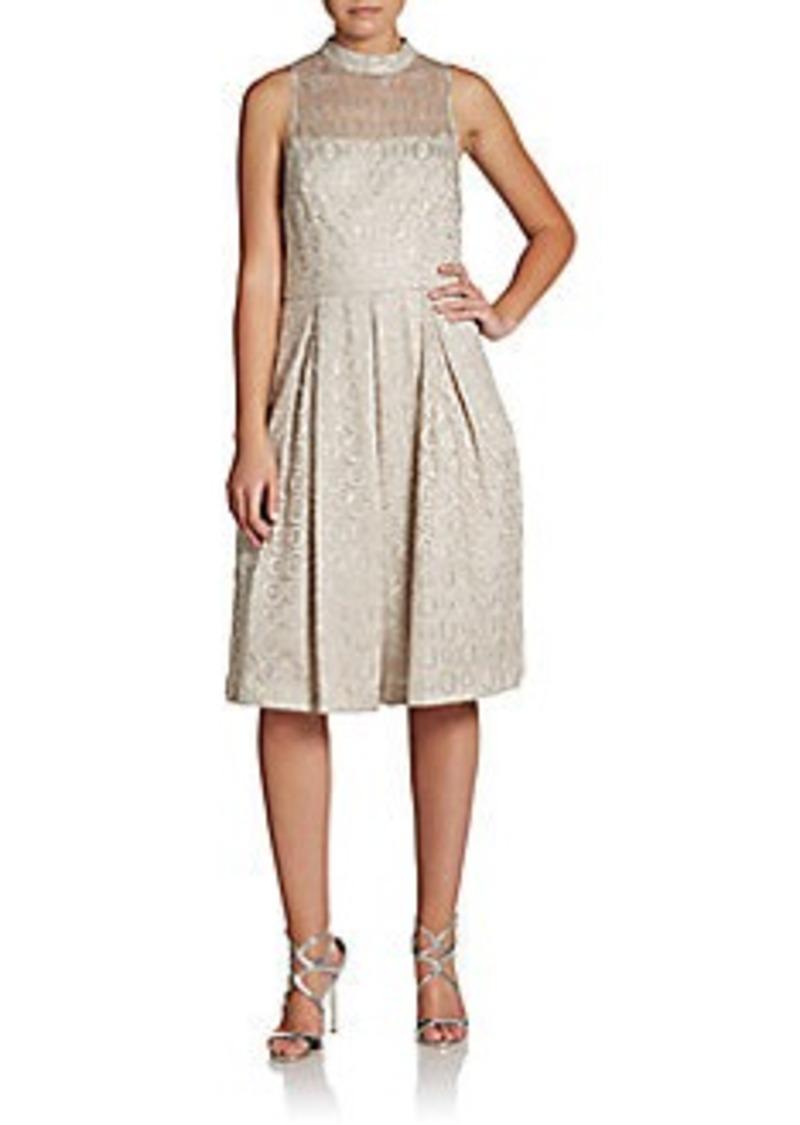 Cynthia Steffe Sadie Sleeveless Metallic Dress