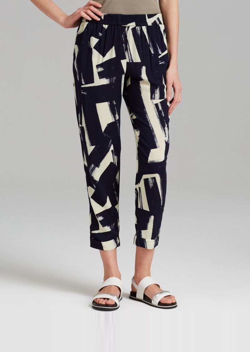 FRENCH CONNECTION Pants - Big Brush Stroke