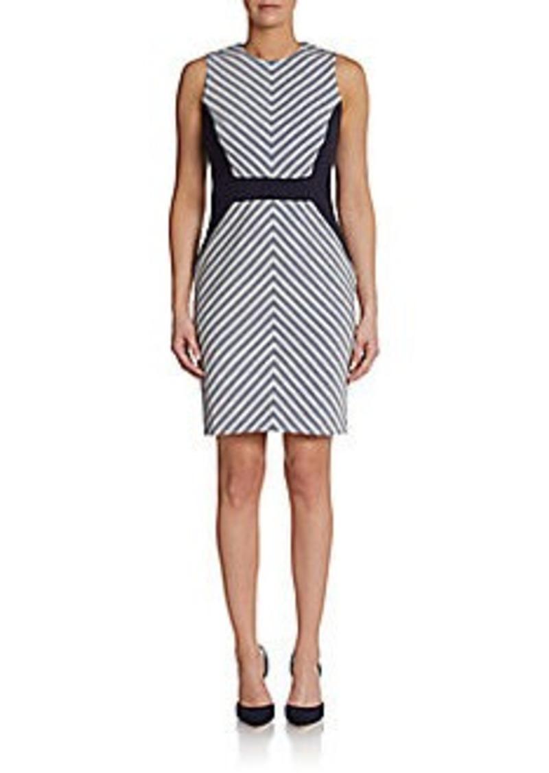 Calvin Klein Sleeveless Chevron-Print Sheath Dress