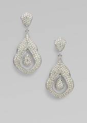 Adriana Orsini Pave Crystal Double Drop Earrings