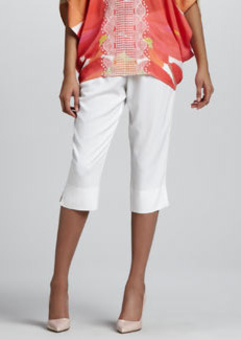 Catherine Malandrino Cropped Side-Slit Pants
