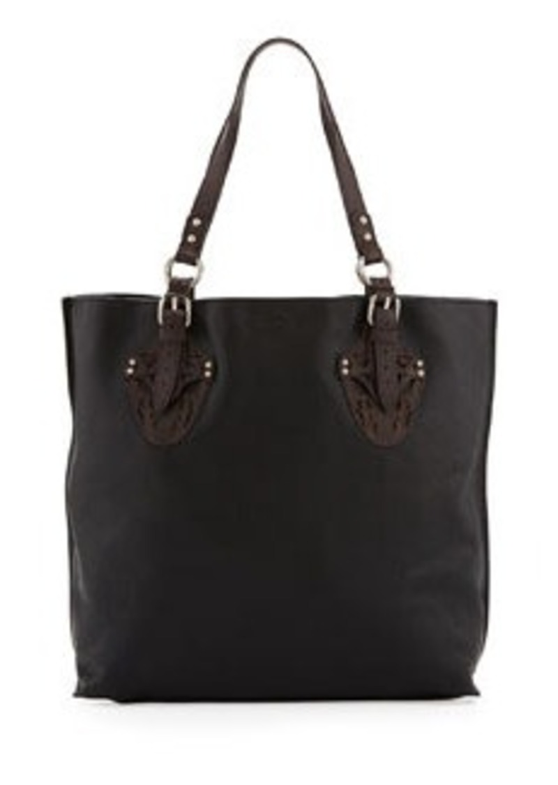 Foley + Corinna Equestrian Two-Tone Tote Bag, Black/Brown