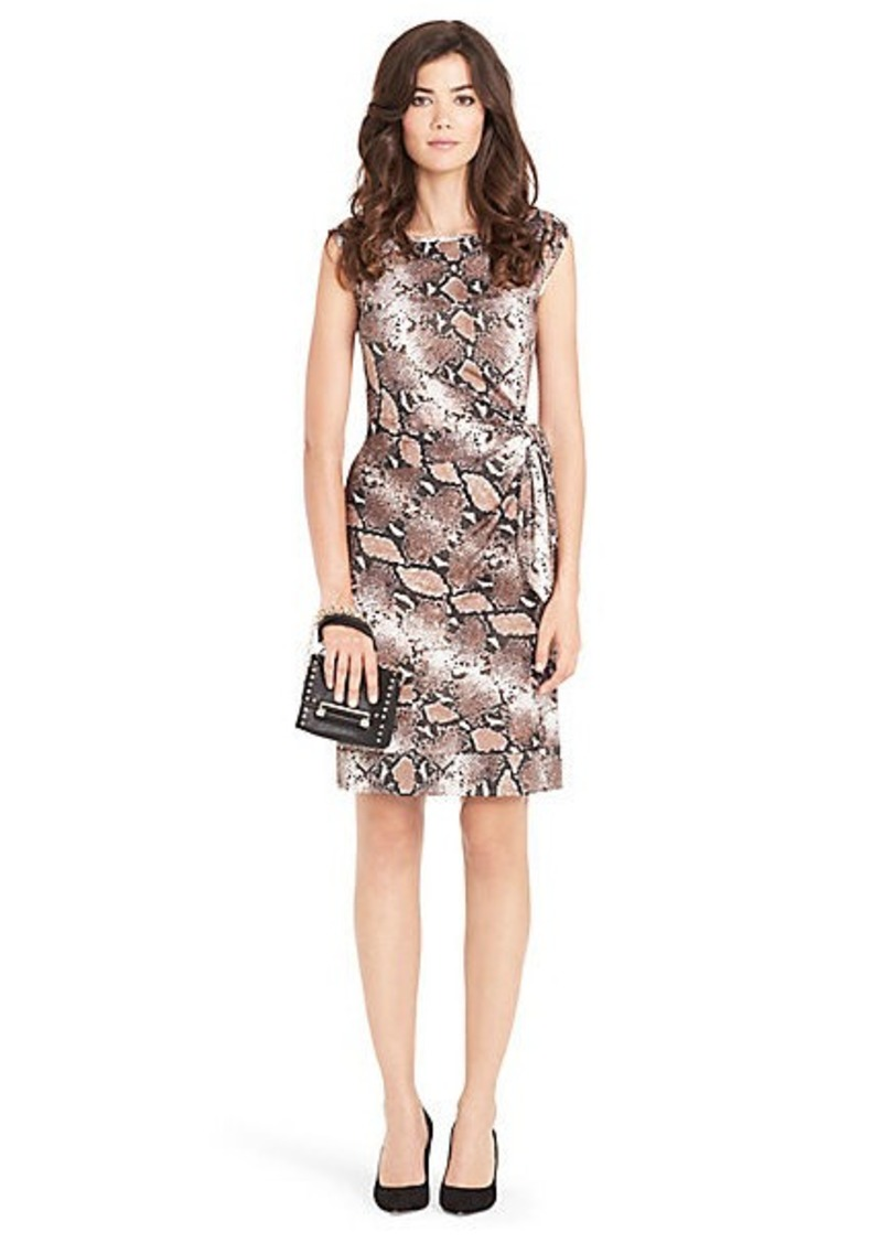 Diane Von Furstenberg New Della Silk Jersey Shift Dress