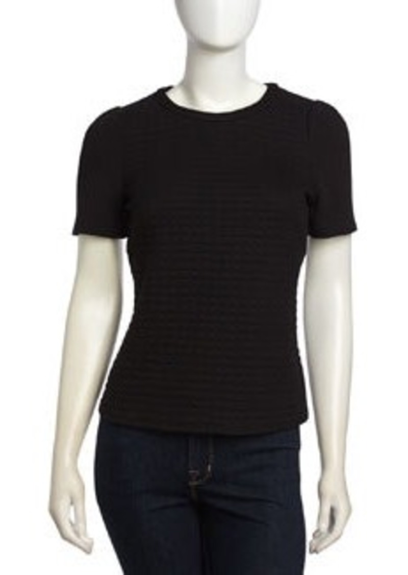 Laundry by Shelli Segal Dotted Dobby Knit Top, Black
