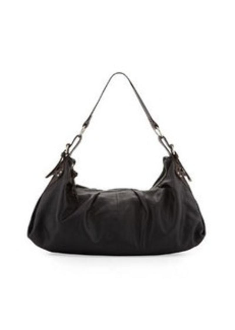 Foley + Corinna Equestrian Soft-Pleat Hobo Bag, Black/Brown