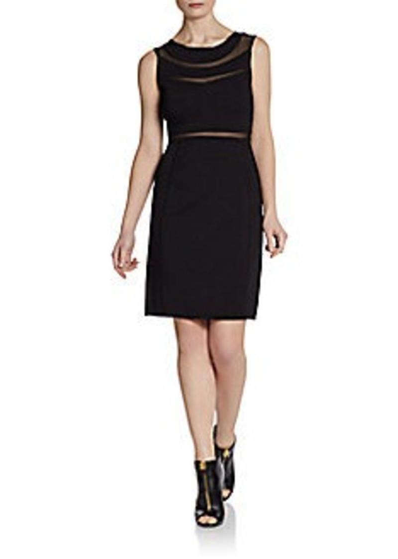 Catherine Malandrino Briella Mesh Stripe Dress