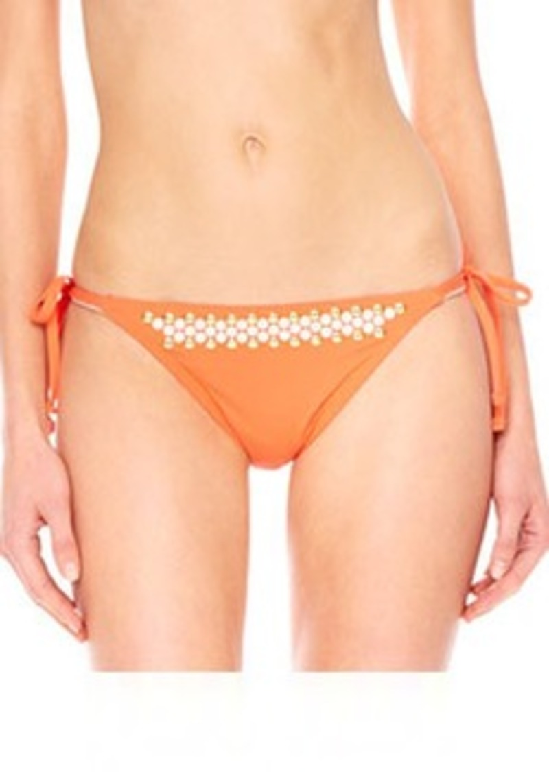 MICHAEL Michael Kors Studded Tie-Side Swim Bottom   Studded Tie-Side Swim Bottom