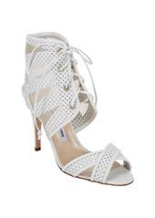 Manolo Blahnik Vestalabar Perforated-Leather Cutout Sandals
