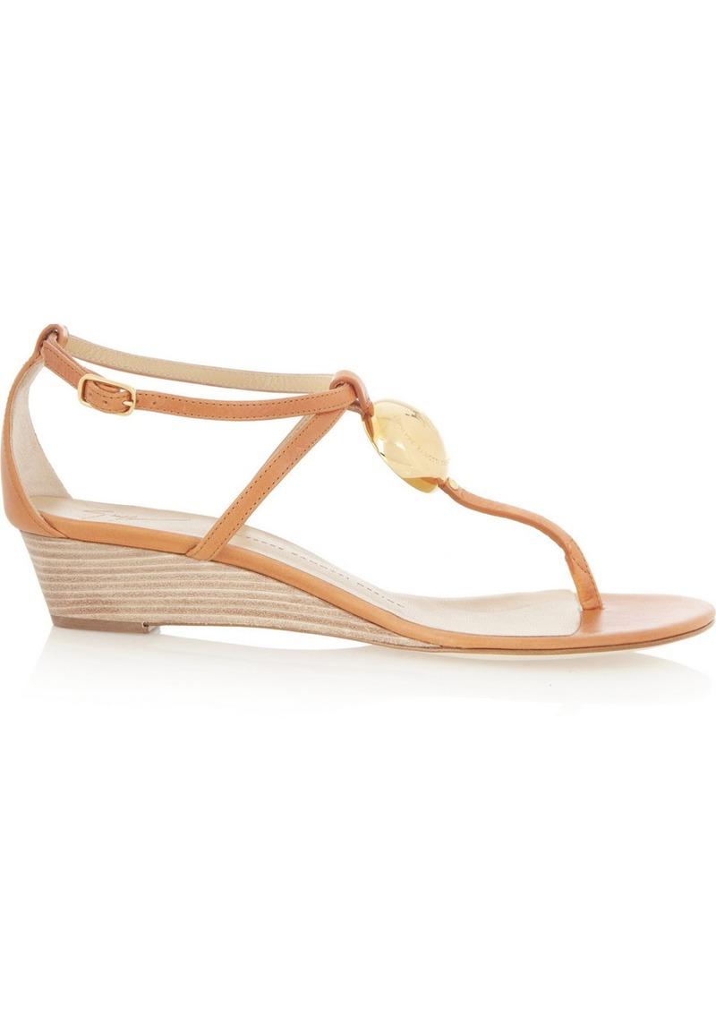 Giuseppe Zanotti Carmello leather wedge sandals