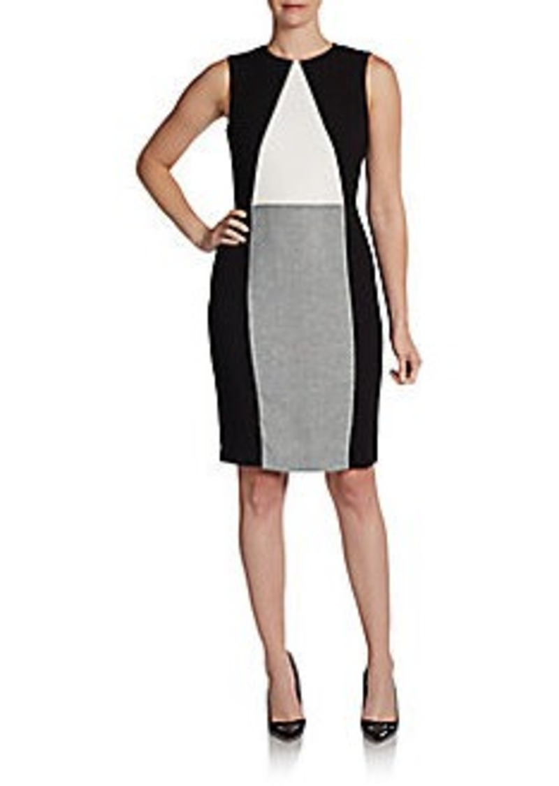 Calvin Klein Sleeveless Paneled Sheath Dress