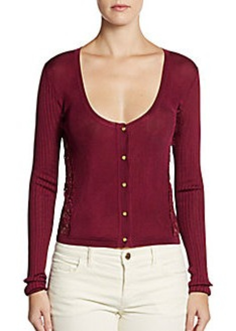 Emilio Pucci Lace-Inset Silk Sweater