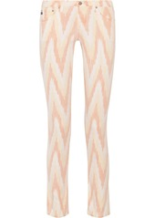 AG Adriano Goldschmied AG Jeans Stilt printed mid-rise skinny jeans