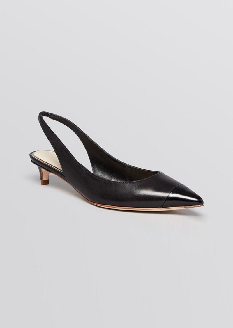 Elie Tahari Pointed Toe Slingback Pumps - Sasha Kitten Heel