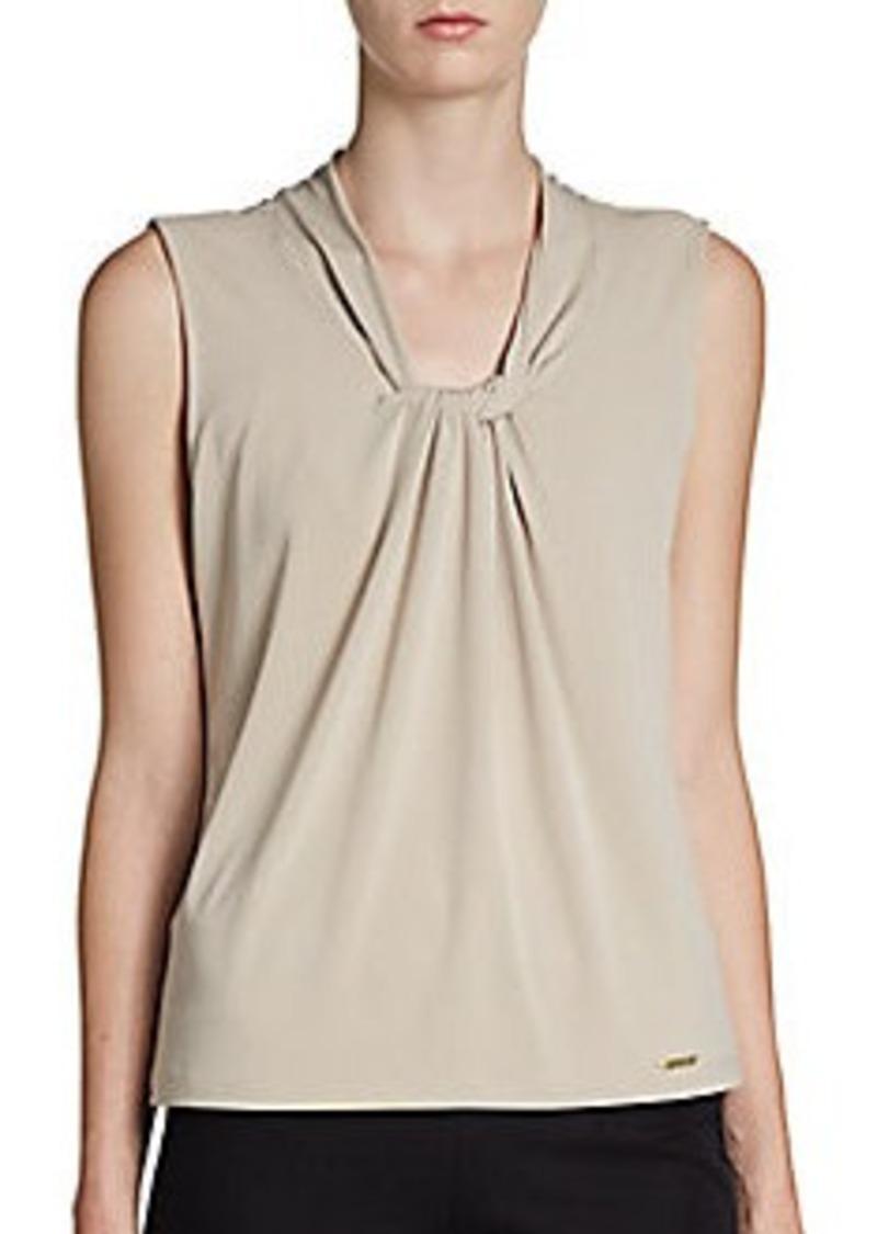 Calvin Klein Twist-Front Knit Top